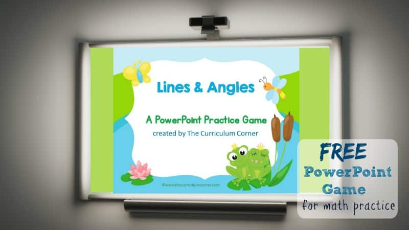 lines and angles geometry game the curriculum corner 123