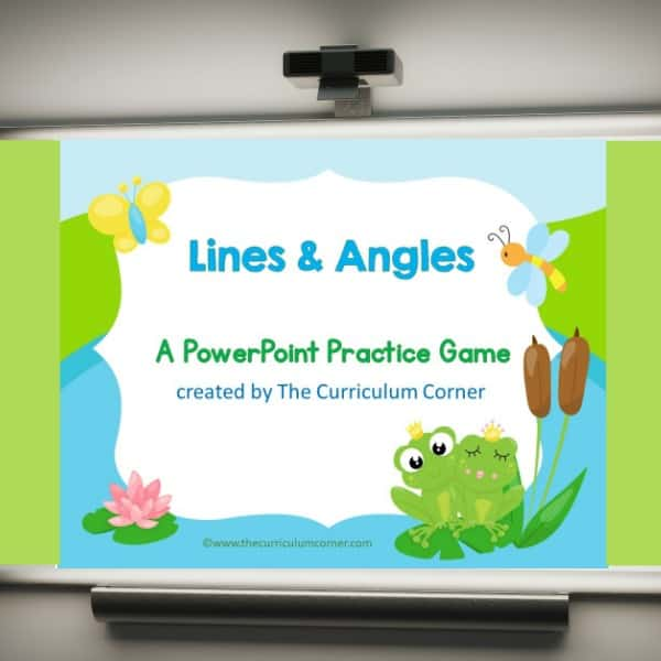 Use this lines and angles geometry game for PowerPoint to give your students practice with identifying lines and angles. 3