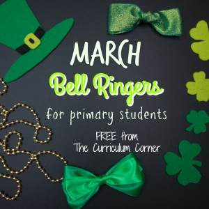 FREE March Bell RIngers from The Curriculum Corner