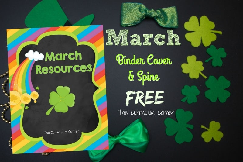 FREE March Resources from The Curriculum Corner 2