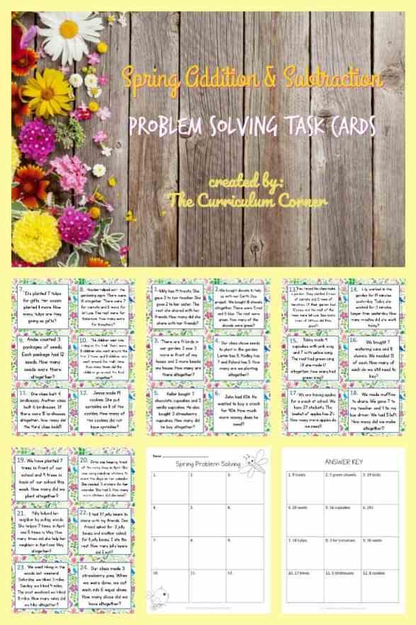 Spring Problem Solving (2nd Grade) - The Curriculum Corner 123