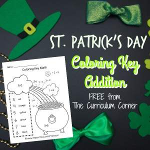 If you have students who love to color, take a look at this coloring key math practice for St. Patrick's Day.