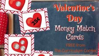 Valentine Money Matching Cards