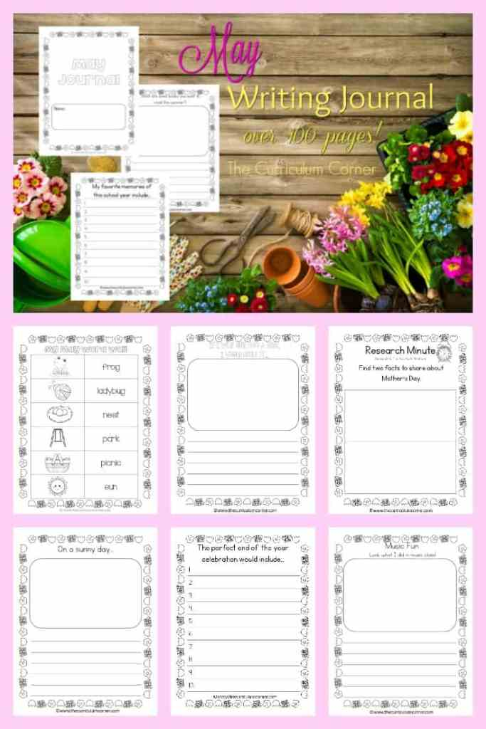 FREE May Writing Journal from The Curriculum Corner
