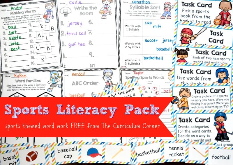 This free sports word work collection is a literacy set that has been created to boost student engagement during your reader's workshop.