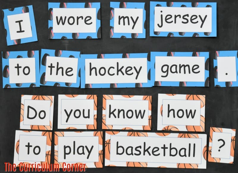 FREE Sports Literacy Pack from The Curriculum Corner | Word Work 3