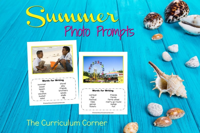 We have assembled a collection of 10 summer photo prompts for writing with word banks. We hope you love this free resource for teachers!