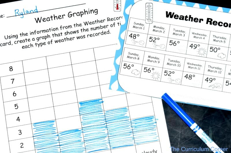 FREE Weather Centers from The Curriculum Corner 2