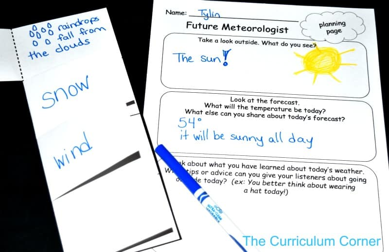 FREE Weather Centers from The Curriculum Corner 5