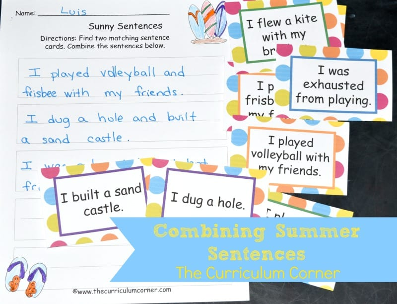 This free summer writing center is designed to help your writers work on combining shorter sentences in their writing.