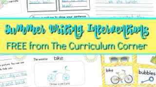Summer Writing Interventions