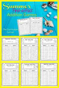 Summer Find a Fact Addition Games