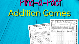 Summer Find a Fact Addition