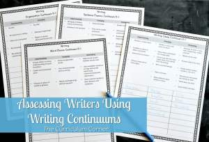 Use these writing continuums for assessing writers and student writing - they are also a useful tool for tracking student progress.