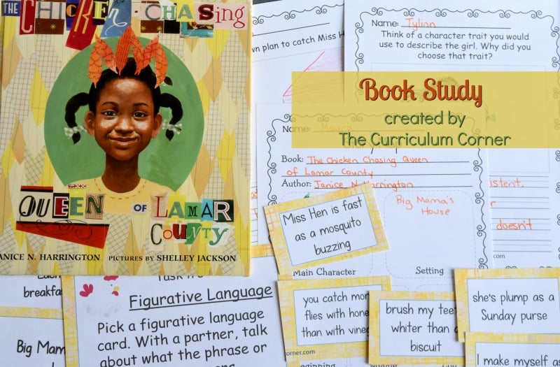 The Chicken Chasing Queen of Lamar County Book Study - A free literacy center set created by The Curriculum Corner