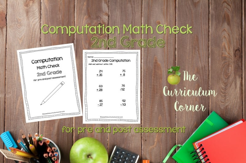 This 2nd Grade Computation Math Check is designed to be a pre and post assessment for computation standards in your math classroom.