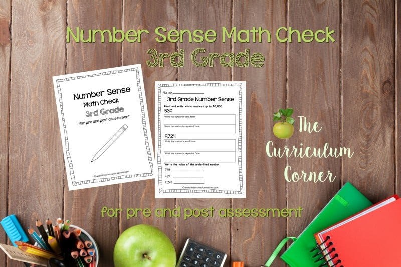 This 3rd Grade Number Sense Math Check is designed to be a pre and post assessment for number sense standards in your math classroom.