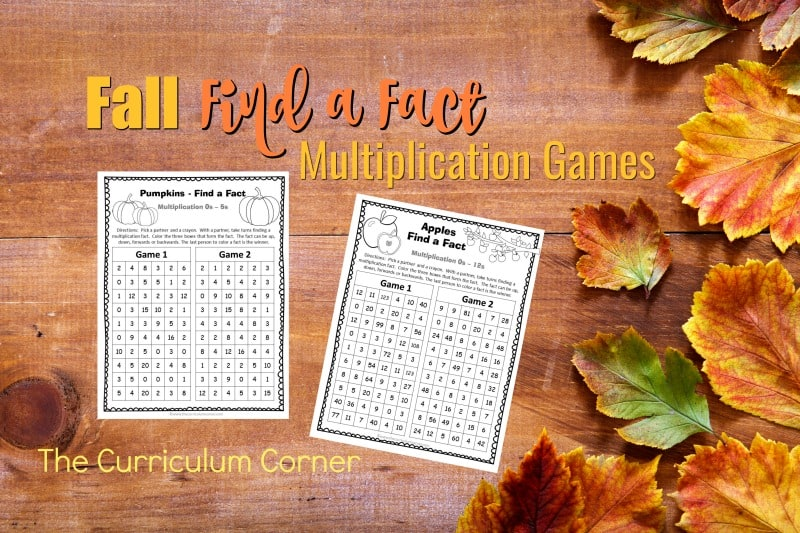 These fall multiplication games are designed to offer multiplication fact practice in a fun and engaging format!