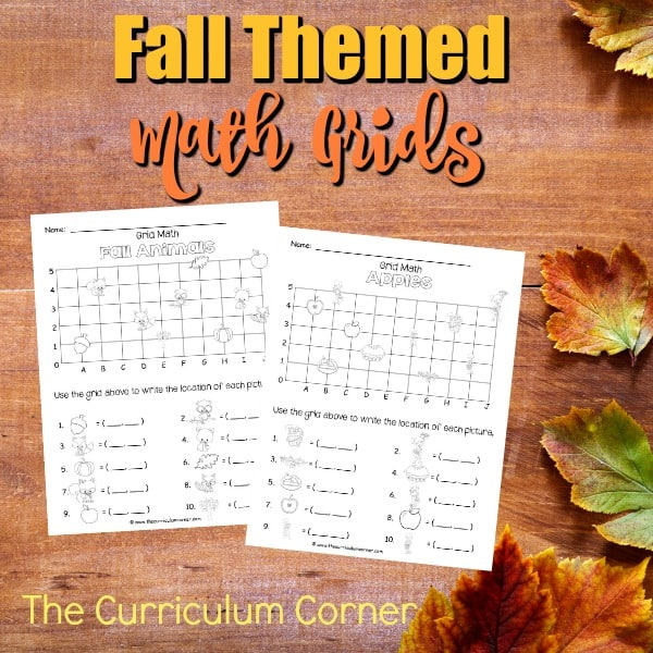 Fall Math Grids (Coordinate Grids)
