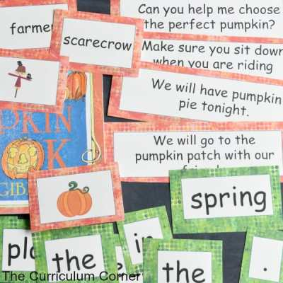 Pumpkin Patch Word Work Set