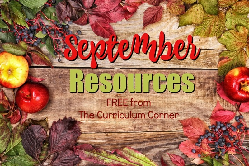 These free September resources will help you prep for a smooth September. FREE classroom resources for teachers from The Curriculum Corner.