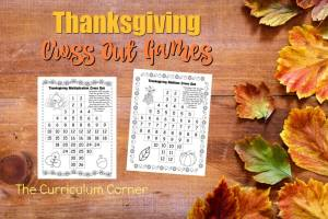 These free Thanksgiving Addition & Multiplication Cross Out Games are a fun addition to your fall math games.