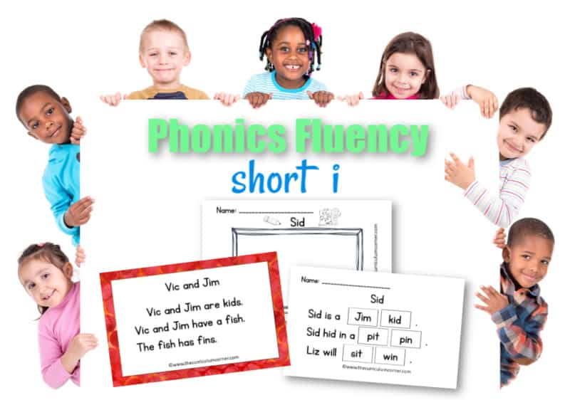 This free set of short i fluency passages can be used for your students focusing on vowel sounds during reading instruction.