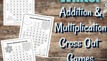 Fall Addition Cross Out Games - The Curriculum Corner 123