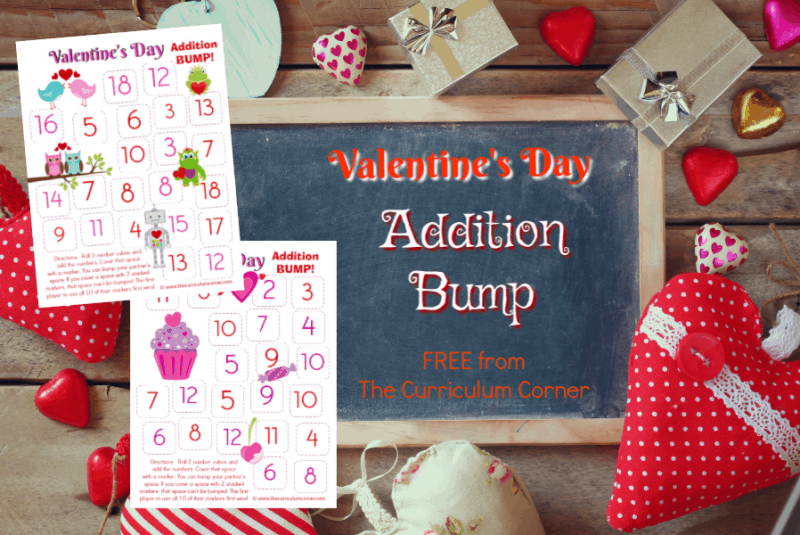 Valentine's Day Addition BUMP! This set of free Valentine's Day Addition BUMP! Games have been created to help your students work on mastering their addition facts this Valentine's Day.