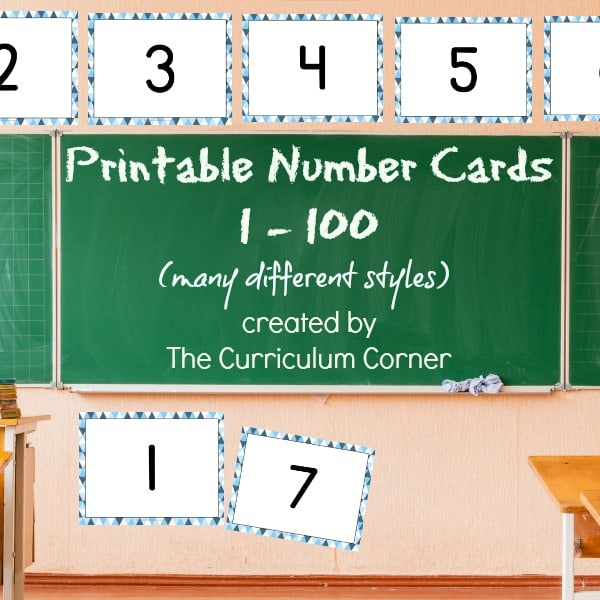 Choose one of these sets of printable number cards for display in your classroom or for many other practice purposes.