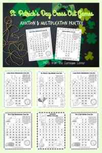 St. Patrick's Day Cross Out Games FREE from The Curriculum Corner
