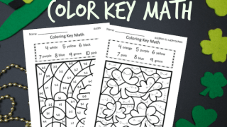 St. Patrick's Day Color Key Math (add/ subtract)
