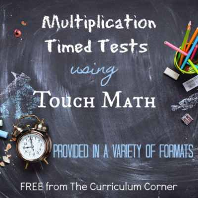 Touch Math Multiplication Timed Tests