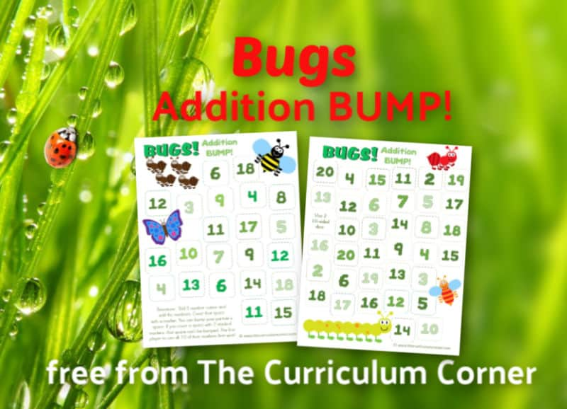 Bugs Addition BUMP Games! This set of free Bugs Addition BUMP Games have been created to help your students work on mastering their addition facts (and simple computation skills) with a buggy spring theme.