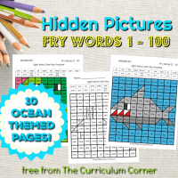 Ocean Fry Word Hidden Pictures