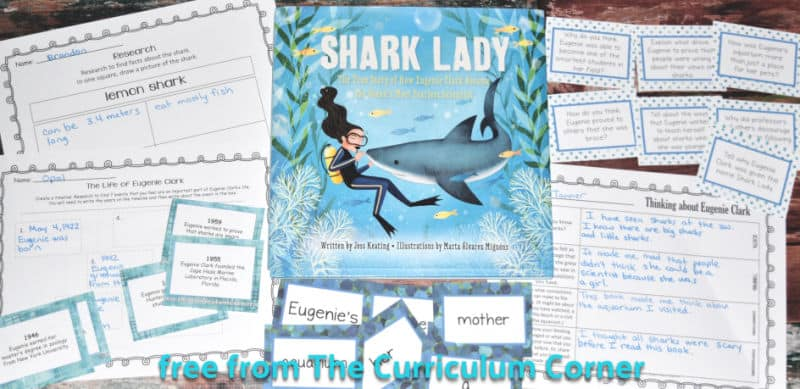 free Shark Lady book study