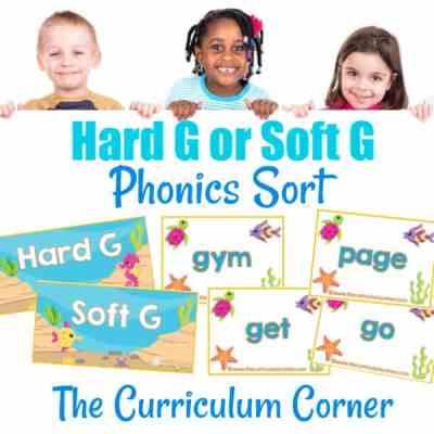 Phonics Sort: Hard G & Soft G