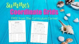 FREE Summer Coordinate Grids