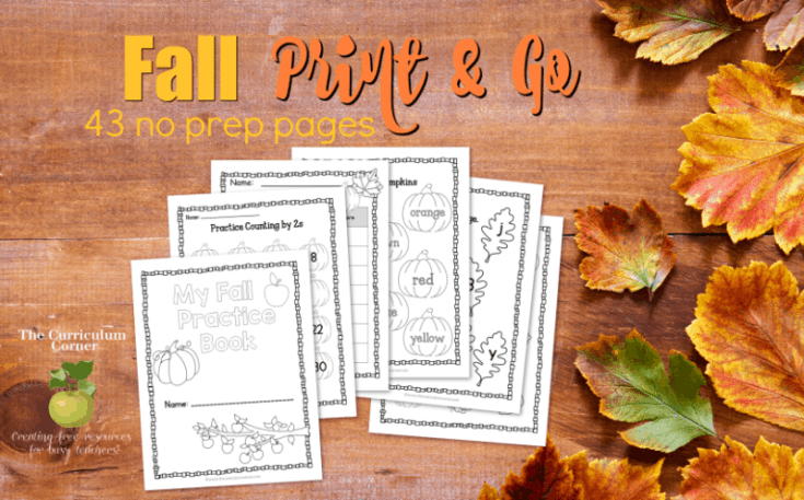 Fall Print & Go Pages