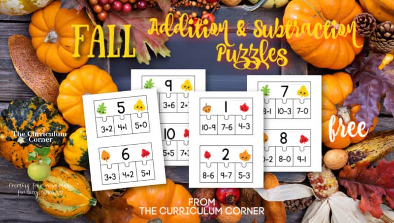 addition subtraction fact puzzles