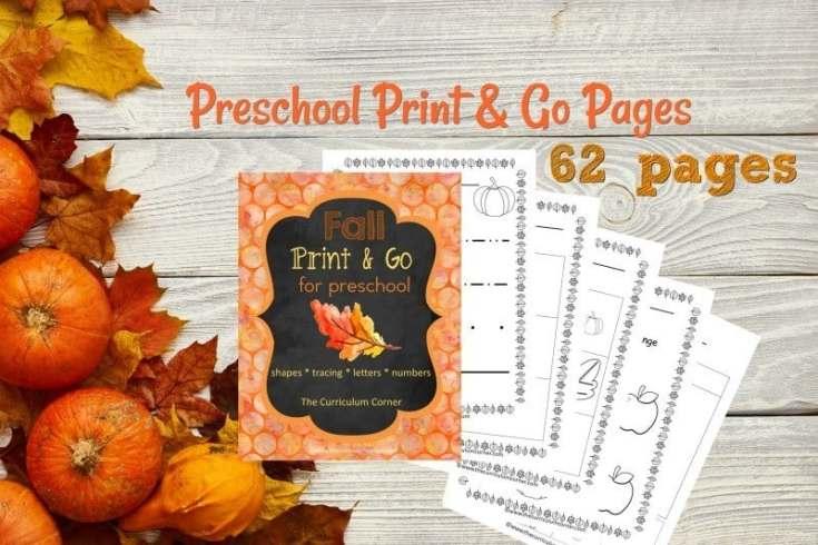 Fall Print & Go for Preschool