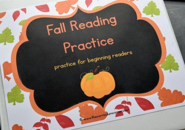 Fall Reading Binder