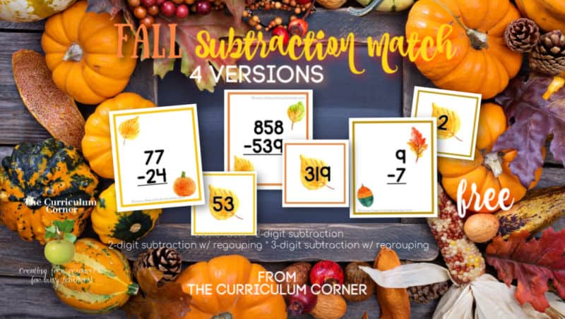 Fall Subtraction Match