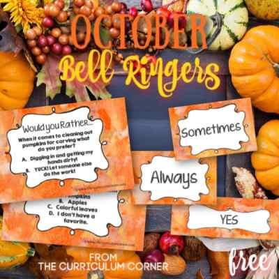 October Bell Ringer Questions