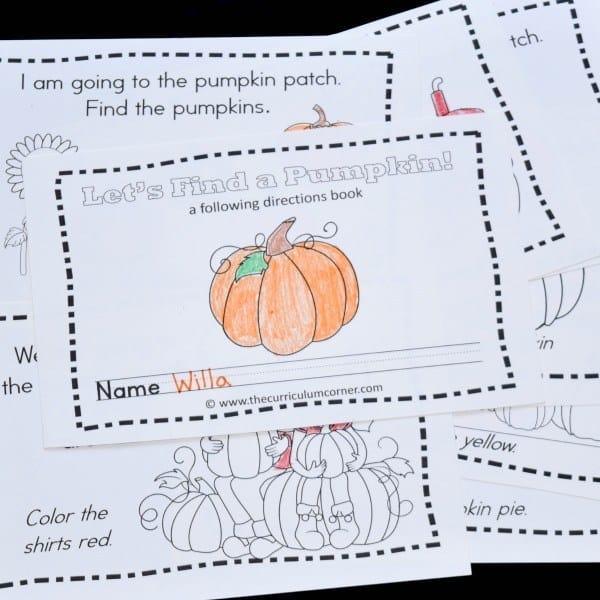 Pumpkin Patch Read & Color Book