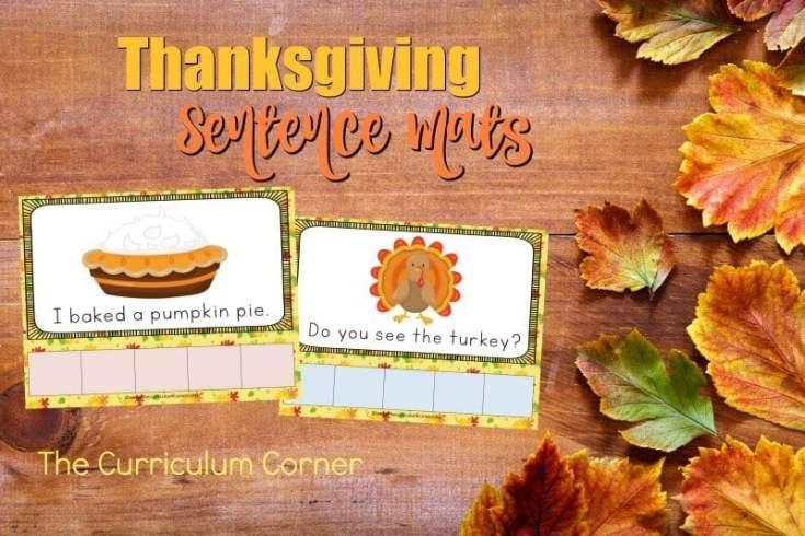 Thanksgiving Sentence Mats