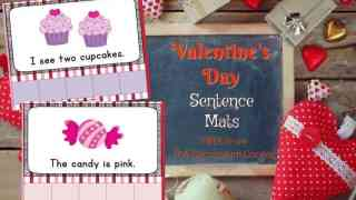 Valentine's Day Sentences Mats