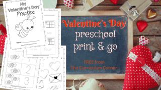 Valentine Preschool Pages