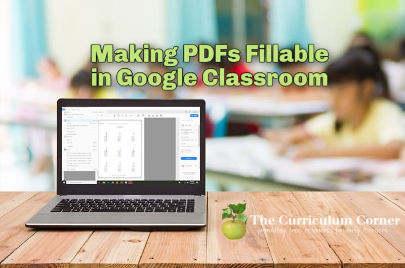 Making a PDF Fillable in Google Classroom