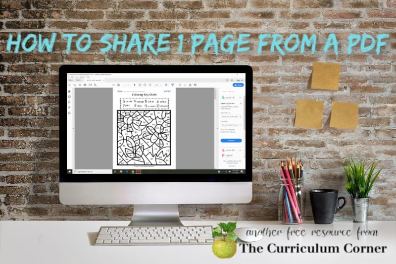 How to Share 1 PDF Page